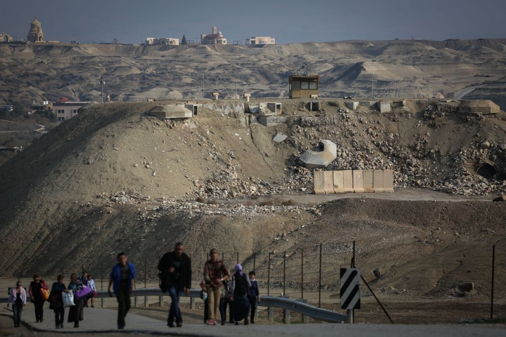 An IDF border guard post seen at Qasr el Yahud, near the Jordan River and the Israel-Jordan border, on January 18, 2015. (Hadas Parush/Flash90)