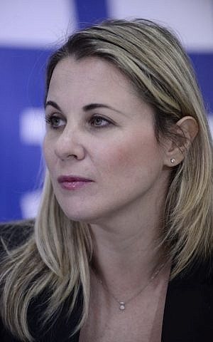 Zionist Union MK Ksenia Svetlova speaks during a press conference, February 22 2015. (Tomer Neuberg/Flash90)