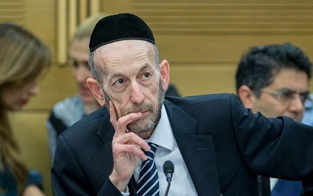 United Torah Judaism MK Uri Maklev in the Knesset on February 16, 2016. (Yonatan Sindel/Flash90)