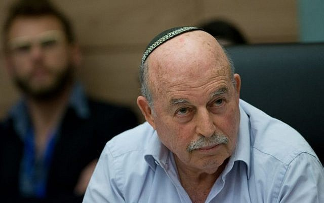 Constitution Law and Justice Committee chairman MK Nissan Nissan Slomiansky, a meeting in the Knesset, February 23, 2016. (Yonatan Sindel/Flash90)