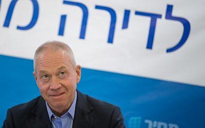 Housing Minister Yoav Galant on March 31, 2016 (Yonatan Sindel/Flash90)