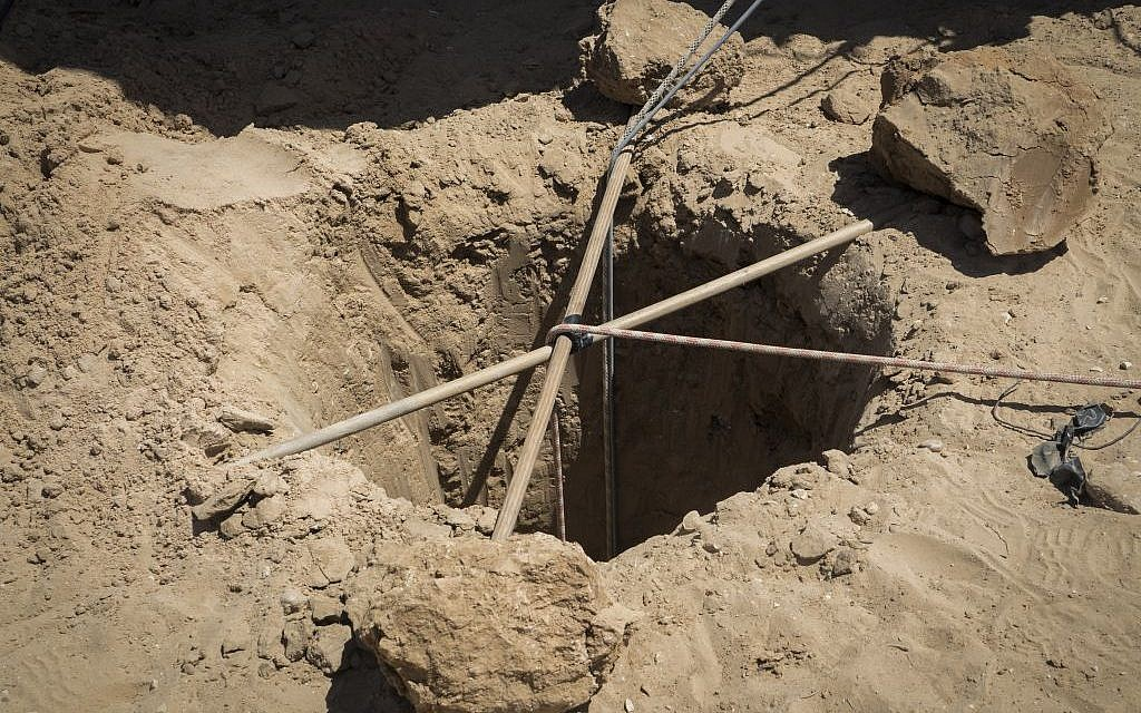 Illustrative: The IDF excavation of a recently discovered tunnel running from Gaza into the Eshkol region of southern Israel on May 5, 2016. (Photo: IDF Spokesperson's Unit)