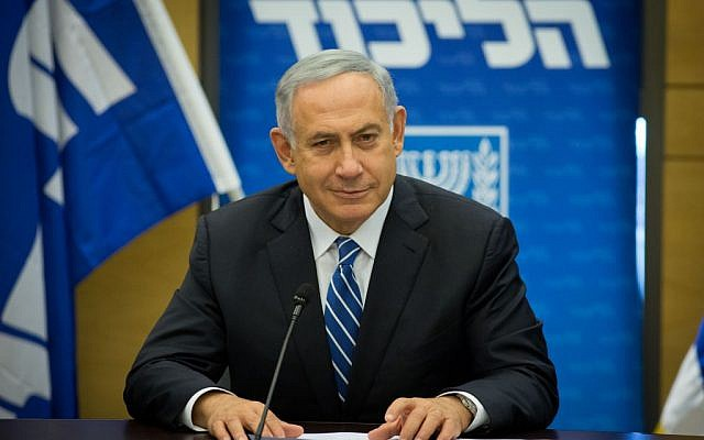Prime Minister Benjamin Netanyahu attends a Likud faction meeting at the Knesset, on May 30, 2016 (Miriam Alster/Flash90)