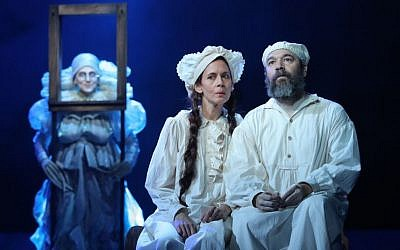 'Fiddler on the Roof' revival with Danny Burnstein (Tevye) and Jessica Hecht (Golde). (courtesy)