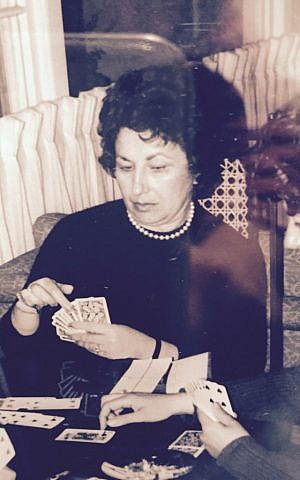 Author Betsy Lerner's mother Roz playing Bridge in her younger years. (Courtesy)