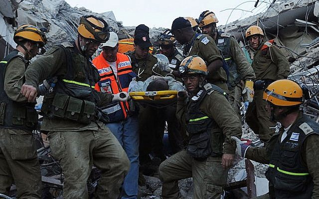 Israeli rescuers arrived in Haiti on the evening of Jan. 15, 2010. Photo from Jan. 17. (IDF Spokesperson/FLASH90)