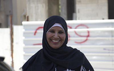 Miriam Abu Alqiya'an, 39, a resident of Umm al-Hiran in Tel Aviv on May 20, 2016. (Courtesy: Esther Talkar)