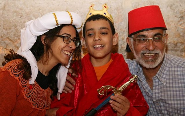 Participants in Tower of David Museum's Passover program for families with children with special needs, April 2016. (Ricky Rachman)