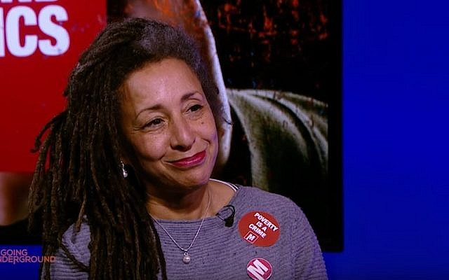 Senior British Labour party activist Jackie Walker, 2016 (screenshot: YouTube)