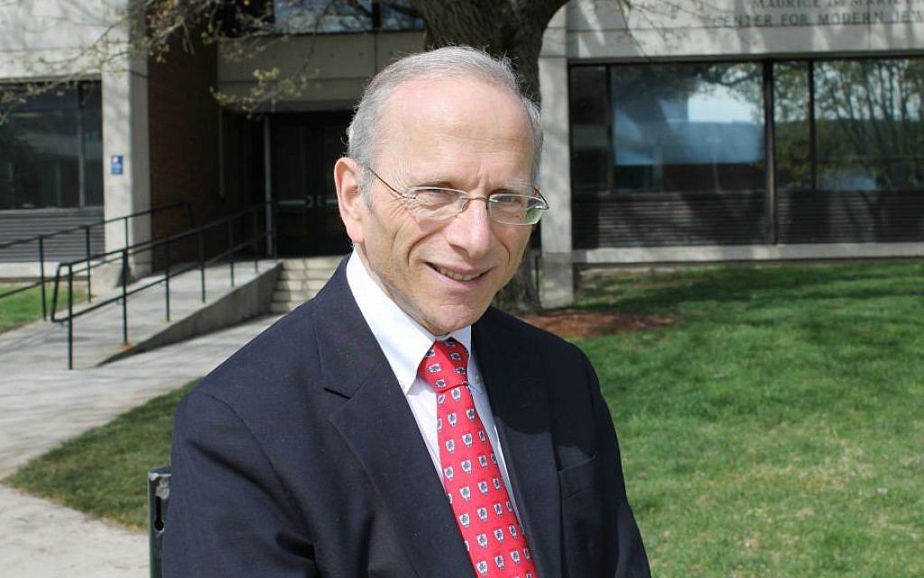 Jonathan Sarna at Brandeis University, his undergraduate alma mater and where he has taught for more than 25 years, May 10, 2016 (Uriel Heilman/via JTA)