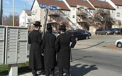 The Satmar Hasidic village of Kiryas Joel was the subject of two FBI raids in two months, lending to a sense of siege in the insular community, May 2016. (JTA/Uriel Heilman)