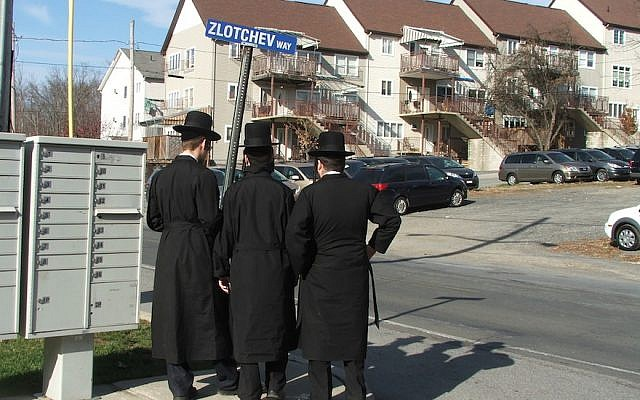 The Satmar Hasidic village of Kiryas Joel. (JTA/Uriel Heilman)