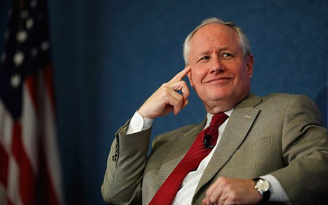 Bill Kristol at discussion sponsored by e21, a conservative think tank, in Washington, DC, Oct. 3, 2011. (Chip Somodevilla/Getty Images via JTA)