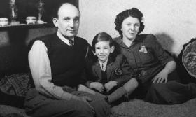 Laszlo Lakos, left, son Alfred, and wife Rozssi Schonberg Lakos in Hungary prior to the 1944 German invasion (courtesy of Lakos Family)