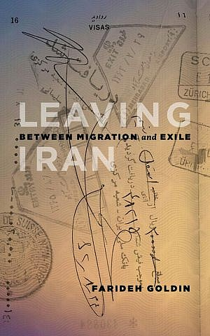Cover of 'Leaving Iran' by Farideh Goldin. (courtesy AU Press)