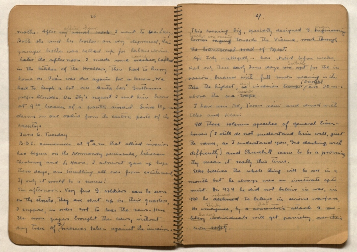 Once family heirlooms, the Maria Madi Journals are now held by the U.S. Holocaust Memorial Museum in Washington, D.C. (courtesy U.S. Holocaust Memorial Museum)