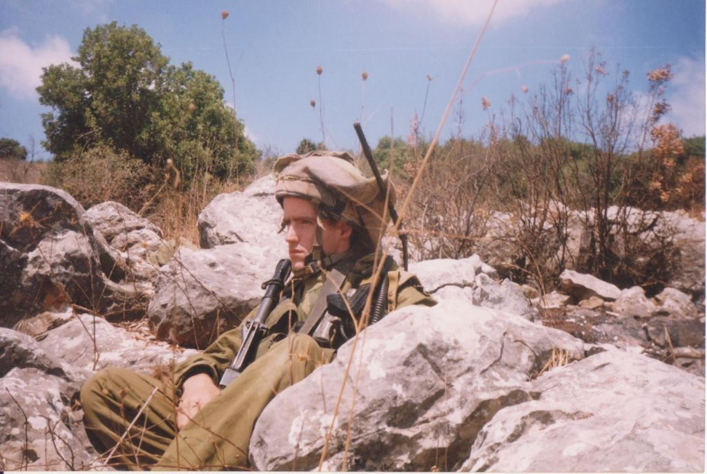 Matti Friedman, the soldier, in southern Lebanon (Courtesy Matti Friedman)