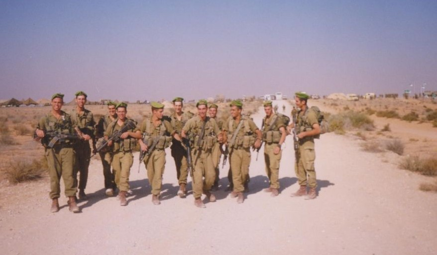Matti Friedman and his platoon, Lebanon 1998 (Courtesy Matti Freidman)