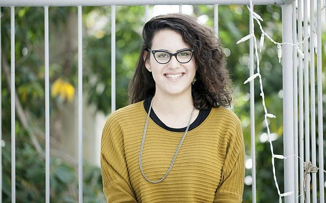 Tair Kaminer, a 19-year-old Israeli woman who spent more than three months in military prison in what supporters say is the longest sentence ever handed down to a female conscientious objector in Israel. (Shani Scarlett Kagan/Mesarvot via AP)