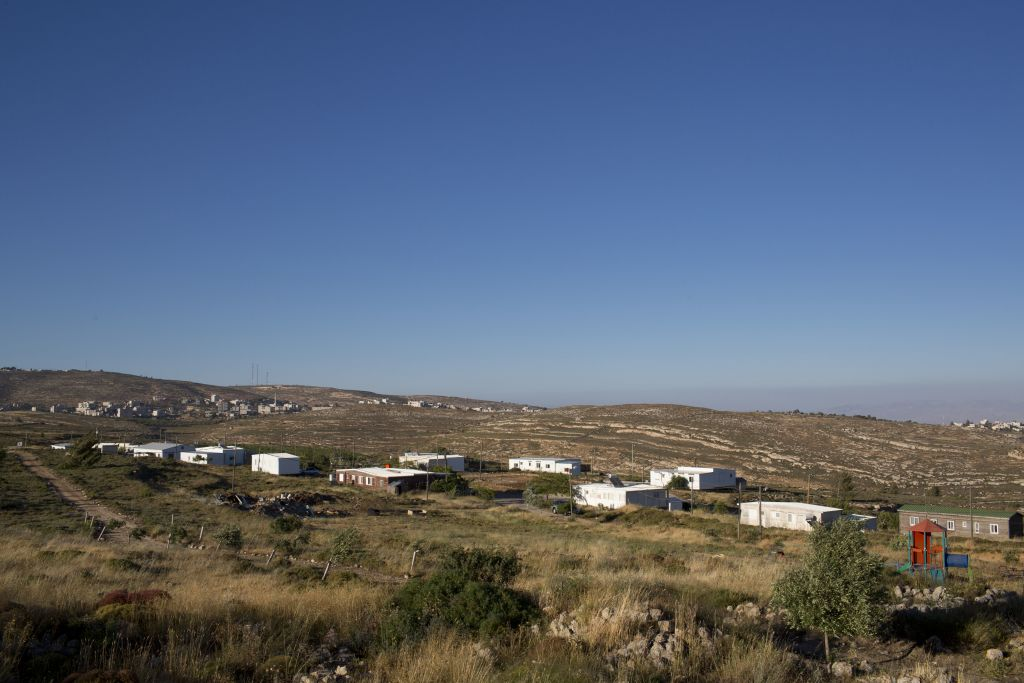 Amona, an Israeli outpost in the West Bank, east of the Palestinian town of Ramallah, May 18, 2016 (AP/Oded Balilty)