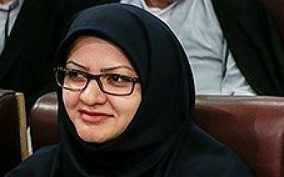 Iranian lawmaker-elect Minoo Khaleghi. (Wikipedia/Hamed Malekpour/Tasnim News Agency/CC BY 4.0)
