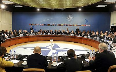 Illustrative: NATO foreign and defense ministers meeting at NATO headquarters in Brussels, Oct. 14, 2010. (US Air Force Master Sgt. Jerry Morrison/DOD/Public Domain/Wikimedia)