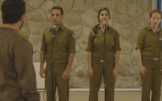 'Beyond the Mountains and Hills' protagonist David (Alon Pdut) still attends military events, having been discharged after 27 years (screenshot)