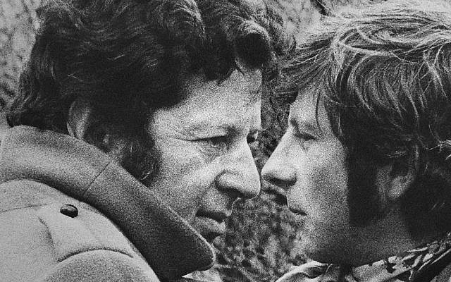 This 1967 photo shows film producer Gene Gutowski, left, and director Roman Polanski.(AP Photo/Judy Dreszer)