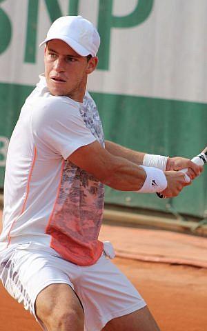 Jewish-Argentinean tennis player Diego Schwartzman. (CC BY-SA 2.0 Si Robi/Wikipedia)