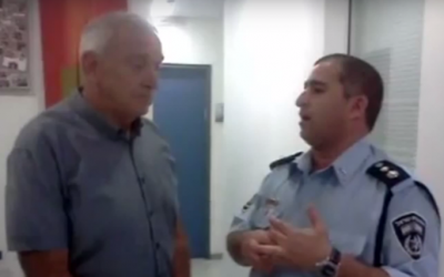 Ilan Mor (right) with former public security minister Yitzhak Aharonovitch (YouTube screenshot)