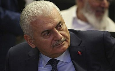Binali Yildirim, Turkey's prime minister and founding member of the governing AKP party. (AP Photo/Burhan Ozbilici)
