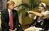 Ali G. (Sacha Baron Cohen), right, interviews Donald Trump (YouTube)