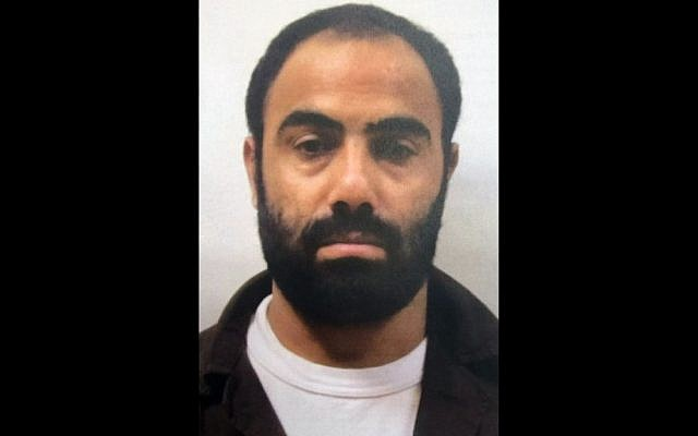 Hamas operative Mahmoud Atawnah, picked up by Israeli security forces last month, in a photo released on May 5, 2016. (Shin Bet)
