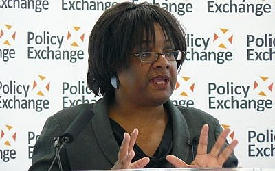 Labour Party MP Diane Abbott delivers speech on public health issues on May 17, 2012. (CC BY Wikimedia Commons)