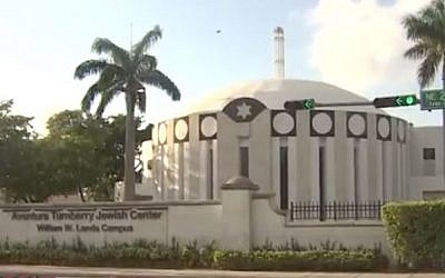 Aventura Turnberry Jewish Center in Miami (screen capture: Twitter)
