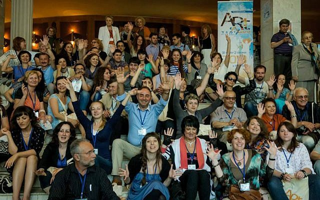 File: Participants at Limmud FSU's first-ever conference in Belarus, which took place in 2013 in the city of Vitebsk. (Courtesy)