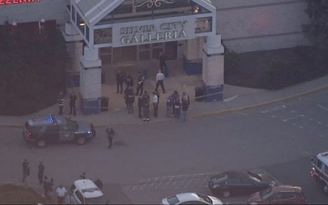 Screenshot from the stabbing scene at Tauton's Silver Galleria mall in Boston, May 10, 2016. (Fox)