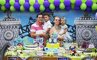 """Eduardo and Mariana Zagury held a third birthday party for their twins Gabriel and Daniela at a fancy """"party house"""" in Rio, but chose the venue for its innovative educational approach. (Courtesy of the Zagury family)"""