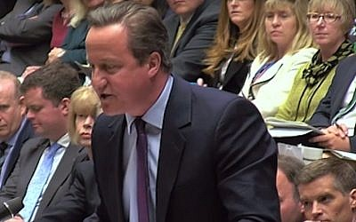 British PM David Cameron speaking in the House of Commons on May 4, 2016 (Screen capture: YouTube)