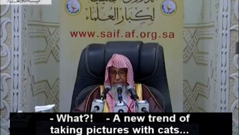 Sheikh Saleh bin Fawzan Al-Fazwan, a member of the Saudi Council of Senior Scholars, outlaws unnecessary pictures (Memri screesnhot)