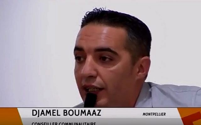 Djamel Boumaaz, a former member of France's far-right National Front party (YouTube screenshot)