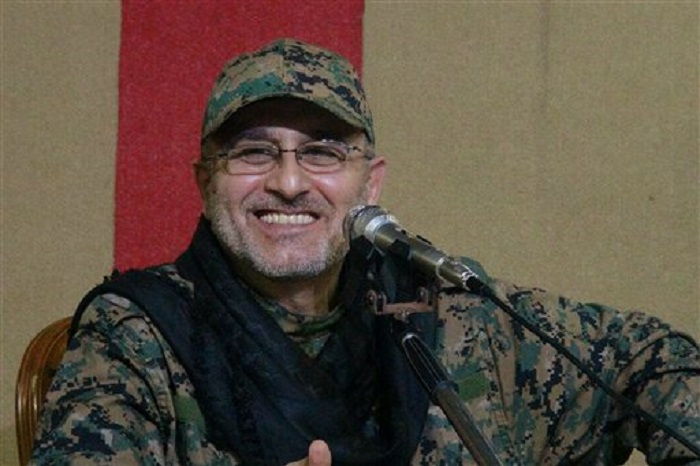 This undated handout image released on Friday, May 13, 2016, by Hezbollah Media Department, shows slain top military commander Mustafa Badreddine smiling during a meeting. (Hezbollah Media Department via AP)