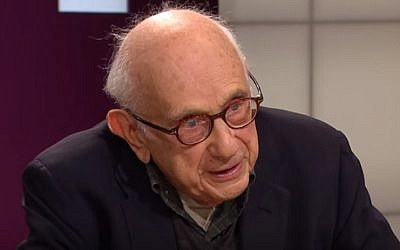 Historian Fritz Stern during an interview in 2015 (YouTube screenshot)