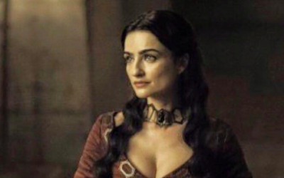 Israeli actress Ania Bukstein plays red priestess Kinvara in the latest season of epic fantasy TV show 'Game of Thrones' (Courtesy Ania Bukstein Facebook page)