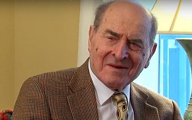 Dr. Henry Heimlich talks about his life in 2014 (screen capture: YouTube)