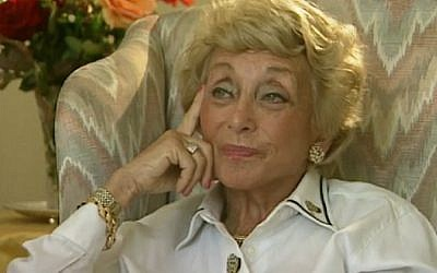Herta Groves, who fled the Nazis in Austria, died on April 27, 2016 at the age of 96 when she was hit by a truck in London (screen capture: USC Shoah Foundation)