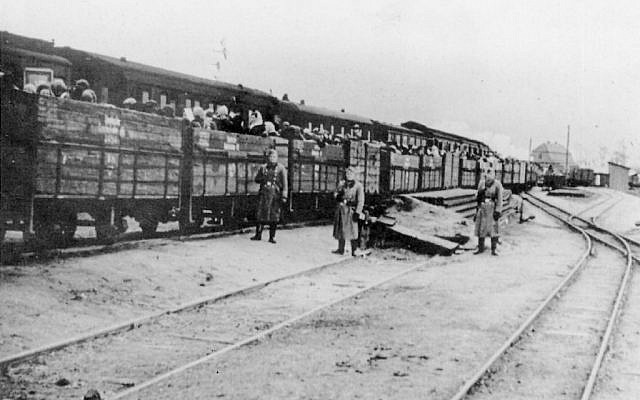 Jews in cattle cars en route to World War II death camps (Courtesy)