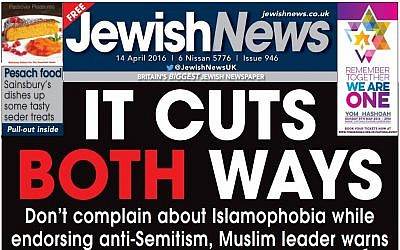 UK's Jewish News, print edition