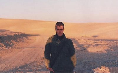 Matti Friedman, pictured during his IDF service in the late 1990s (Courtesy Matti Friedman)