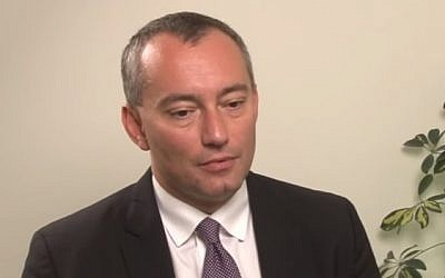 UN special coordinator for the Middle East peace process Nickolay Mladenov (YouTube screenshot)